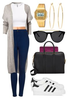 """""""Sin título #481"""" by alejandramalagon ❤ liked on Polyvore featuring NLY Trend, Forever 21, Topshop, H&M, Givenchy, adidas Originals, A.L.C., Smoke & Mirrors, Brooks Brothers and Casio"""