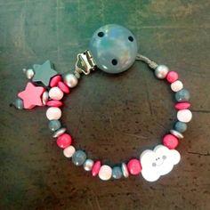 Schnullerkette Wölkchen Monster, Jewelry, Clouds, Sterne, Handmade, Jewels, Schmuck, Jewerly, Jewelery