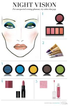 CeciStyle V104: Night Vision - For unexpected evening glamour, try colors that pop