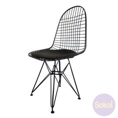 Replica Eames Wire Chair - Black Frame