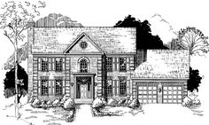 Eplans Georgian House Plan - Four Bedroom Georgian - 3059 Square Feet and 4 Bedrooms from Eplans - House Plan Code HWEPL75264