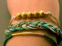 Turquoise Multi Bracelet Set Stacking Bracelet by CraftsbyBrittany, $14.00