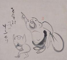指月布袋画賛 - 出光コレクション - 出光美術館