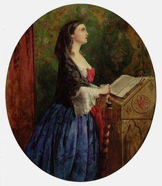 Phillip Hermogenes Calderon / Devotion / Ave Maria. 1858