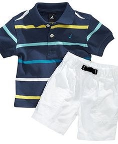 Nautica Baby Set, Baby Boys Stripe Polo and Shorts Set - Kids Baby Boy (0-24 months) - Macy's