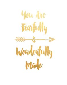 You Are Fearfully And Wonderfully Made by PaperStormPrints on Etsy