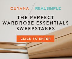 I just entered for a chance to win the New Real Simple Summer Wardrobe Collection by Cuyana. Check it out and enter!
