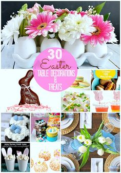 30 Easter Table Decorations And Treats Easter Dinner, Easter Brunch, Easter Party, Easter 2018, Easter Table Settings, Easter Treats, Easter Recipes, Jello, Easter Decor