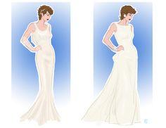 Bridal fanart of G.I.Joe's Lady Jaye in two examples of Oscar de la Renta.
