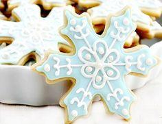 Frozen Snowflake Cookies - 1 Dozen (12) Frozen cookies - Disney Frozen Birthday Party