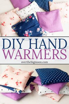 Easy DIY Hand Warmers made with the Cricut Maker! From overthebigmoon.com!
