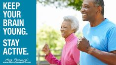 A recent study found that moderate-to-vigorous exercise can reduce the risk of cognitive decline by These findings give hope that older adults can help del Stay Active, Moving Forward, Did You Know, Brain, Exercise, The Brain, Ejercicio, Move Forward, Excercise