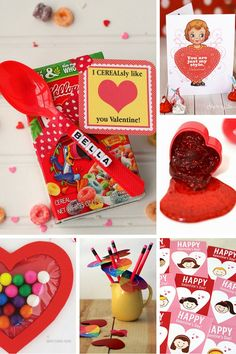 Class Valentines that Kids Can Make & Give! Kids Valentines for School - 100 ideas to pick from the perfect one for this Valentine's day!Kids Valentines for School - 100 ideas to pick from the perfect one for this Valentine's day! Valentines Day Activities, Valentines Day Treats, Valentines Day Decorations, Valentines For Kids, Valentine Day Crafts, Valentine Ideas, Valentines Ideas For School, Valentine Party, Funny Valentine