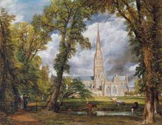 Salisbury Cathedral from the Bishop's Grounds (1823) - John Constable