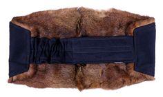 Ledvinový pás z králíka - extra velký, hřejivý a příjemný pro vaše bedra.