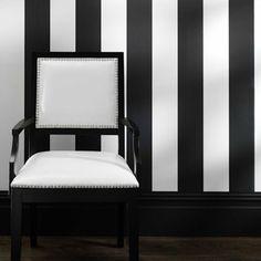 papel pintado rayas negras Bravo,en  telas & papel
