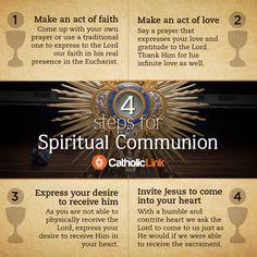Infographic: 4 steps for Spiritual Communion