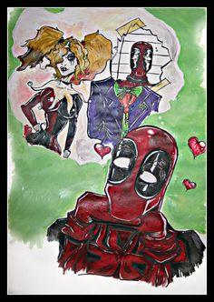 Deadpool meets Harley Quinn by StrikingHyena on deviantART