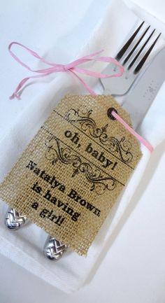Burlap Baby Shower Personalized Tags10 by burlapartbyelizabeth, $25.00