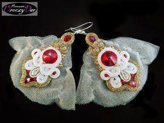 Biżuteria ślubna, kolczyki ze Swarovskim i welonem