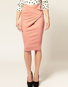 Origami Ponti Pencil Skirt