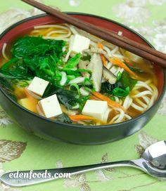 Udon Miso Soup #recipe #EdenFoods