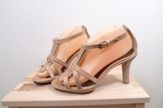 Womens-KEY-TE-Heels-Size-7-5-38-5-NEW-300-Made-in-Italy-Leather