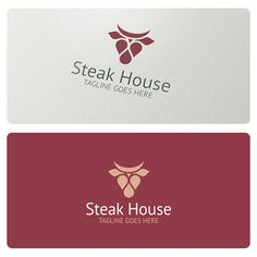 Steak House Logo is highly suitable for restaurants, farms, meat related businesses and products.