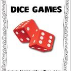 Laminate these and have the students use them with dry erase markers and dice. Great work stations!...