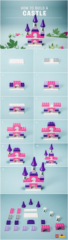 Calling all little knights, princesses, kings and queens! Here is how you can build your very own fairy tale castle fit for a toddler! A great opportunity for explaining vocabulary and independent play! You can find some building  instructions here: http://lego.build/DIYCastle