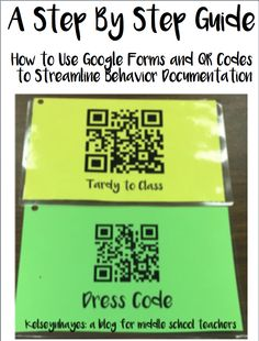 How to Create a Google Form and Connect It With a QR Code to Streamline Behavior Documentation: A Step By Step Guide! #mschat #middleschool #behaviordocumentation