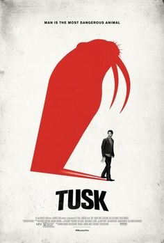 TonightsFilm: #Tusk A man looking for a story gets abducted and has his body morphed into an animal. Very strange. C+