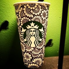 So groovyyyy. | Community Post: 32 Awesomely Creative Starbucks Cup Illustrations