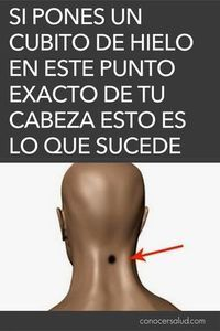 If you put an ice cube at this exact point of your head THIS is what su . Health And Wellness, Health Fitness, Reflexology, Natural Medicine, Natural Cures, Herbal Remedies, Healthy Tips, Beauty Care, How To Lose Weight Fast