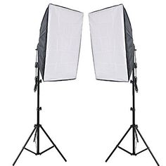 RPGT Photography Softbox Studio Continuous Lighting Kit with 2x80W 5500K Bulbs 50 x70 cm Softboxes 2.4M Light Stand for Photo Studio Portraits, Product Photography and Video Shooting