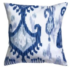 Decorative Pillows Throw Pillows Pillow Covers 18 Inch Square Cover Waverly Blue & White Ikat Decorative Things http://www.amazon.com/dp/B00E1QPEO6/ref=cm_sw_r_pi_dp_5of4wb1MSJXK8