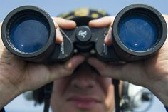 Navy Seaman Eduard Popov stands watch aboard the USS Gonzalez in the Red Sea, Feb. 9, 2016. The Gonzalez is supporting security efforts in the U.S. 5th Fleet area of responsibility. Navy photo by Petty Officer 3rd Class Pasquale Sena