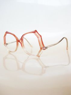 fcedc8686719 Pink Retro 1970s Oversized Punk Glam Chic Cotton Candy Clear Transparent  70s Sunglasses Eyeglasses Glasses Indie Hipster Bubblegum