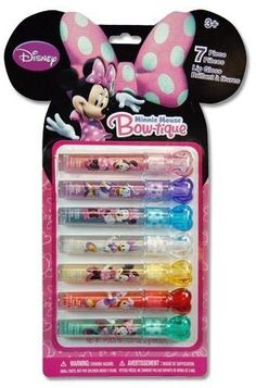 Minnie Mouse Bowtique 7 Pack Lip Gloss Set with Heart Shaped Caps Townley http://www.amazon.com/dp/B00AFKSTWQ/ref=cm_sw_r_pi_dp_wDsFwb1GDJ0XA