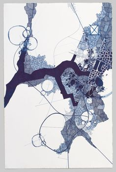 Asvirus 38 - 2013 ink on paper 20 x 13 in, Derek Lerner