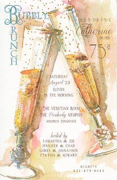 Happy Occasion Champagne Invitation | Polka Dot Design