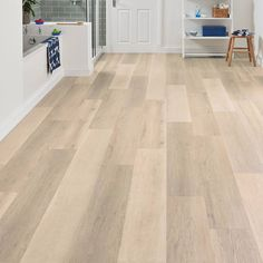 Vinyl kitchen flooring is a very popular choice by homeowners. Vinyl kitchen flooring offers many benefits to the homeowner who has children, pets, or lives an active lifestyle. These floors are ve… Ash Flooring, Vinyl Wood Flooring, Refinishing Hardwood Floors, Luxury Vinyl Flooring, Wood Vinyl, Wood Planks, Flooring Ideas, Floor Refinishing, Vinyl Flooring Bathroom