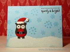 Two Step Owl Punch - Christmas by darlenedesign - Cards and Paper Crafts at Splitcoaststampers