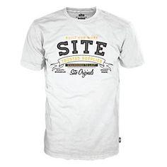 Site Workwear Addict T Shirt White