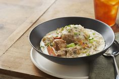 Homemade dumplings made with stuffing mix lend a savory surprise to this warm and creamy slow-cooker pork stew.