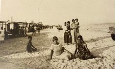 Sardegna, Italia. Spiaggia del Poetto negli anni Venti.