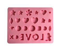 Love Mold Miniature Mold Resin Mold Cake Mold by ColorfulDIY, $5.99