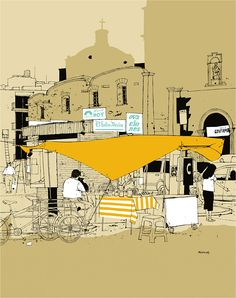 El Sol De Mexico by Evan Hecox which is available as a print from Arkitip
