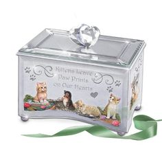Purr-fect Reflections Of Love Kitten Lovers Music Box by The Bradford Exchange: Cat Gift