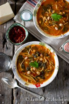 Hlelem: Vegetable & Bean Soup.  This hearty and healthy soup goes from the stovetop to the table in minutes but has lots of long-simmered flavor.